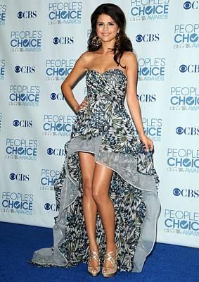 Selena Gomez Wearing An Irina Shabayeva Poster by Everett