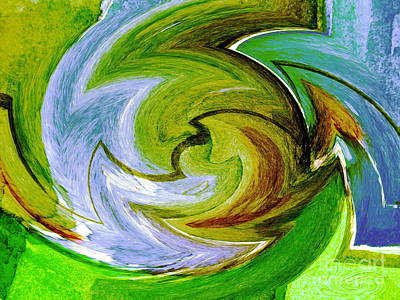 Serape Verde Poster by Pamela Iris Harden
