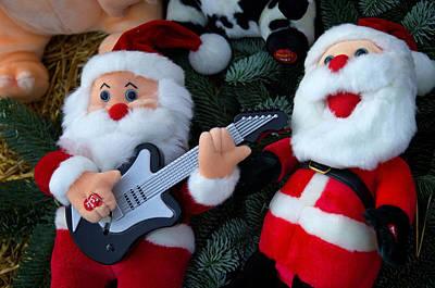 Serenading Santas Practice Carols Poster by Keenpress