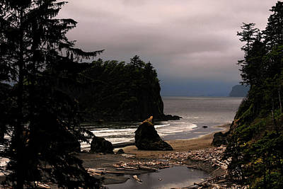 Dusk Poster featuring the photograph Serene And Pure - Ruby Beach - Olympic Peninsula Wa by Christine Till