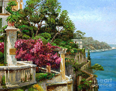 Bush Poster featuring the painting Serene Sorrento by Trevor Neal
