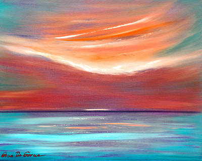 Serenity 2 - Abstract Sunset Poster by Gina De Gorna