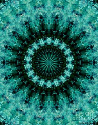 Serenity Mandala Poster by Sandra Gallegos