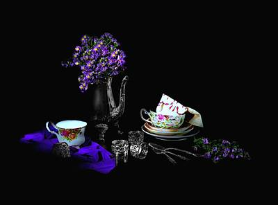 Set For Tea Poster by Diana Angstadt