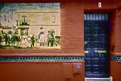 Sevilla Mural Poster by Joan Carroll