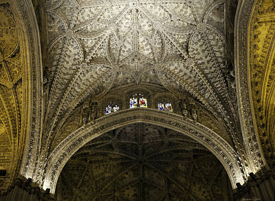 Seville Cathedral - Looking Up Poster by Madeline Ellis