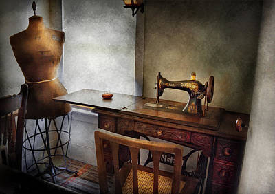 Sewing - A Tailors Life  Poster by Mike Savad