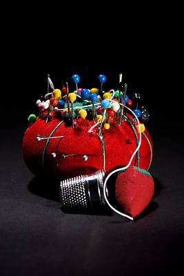 Sewing Equipment - Pin Cushion Poster by Donald Erickson