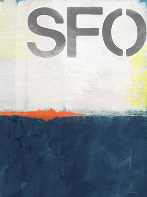 Sfo- Abstract Art Poster by Linda Woods
