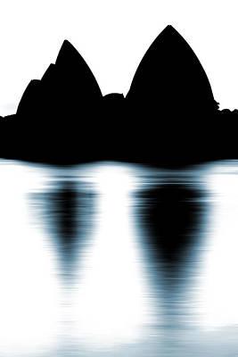 Shaded Peaks  Poster by Az Jackson