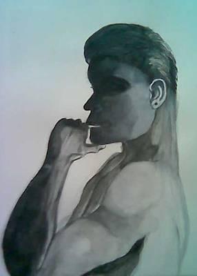 Shadow Man Poster by Marian Hebert