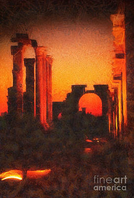 Shadows Of Palmyra Poster by Mo T
