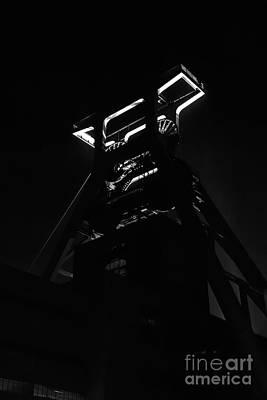 Shaft Tower Zeche Zollverein Poster by Joerg Lingnau