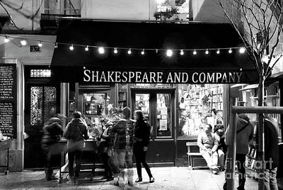 Shakespeare And Company Poster by John Rizzuto
