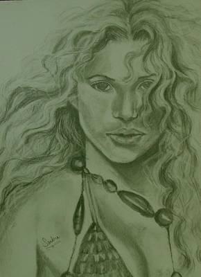 Shakira Poster by Sandra Valentini