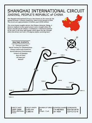 Shanghai Circuit Poster by Mark Rogan