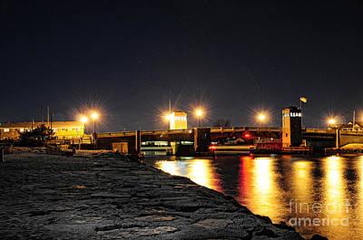 Shark River Inlet At Night Poster by Paul Ward