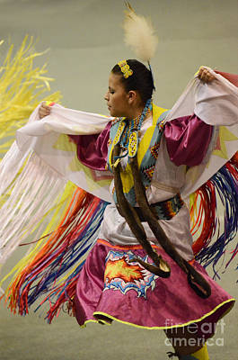 Pow Wow Shawl Dancer 4 Poster by Bob Christopher