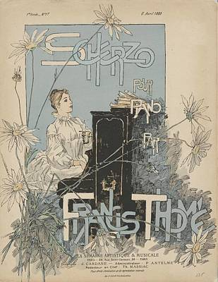 Sheet Music Scherzo Pour Piano Poster by Francis Thome