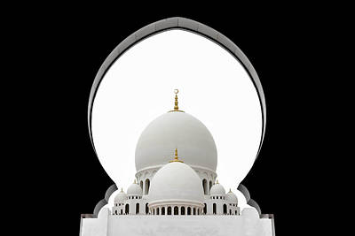 Sheikh Zayed Mosque Dome Poster by Sedef Isik