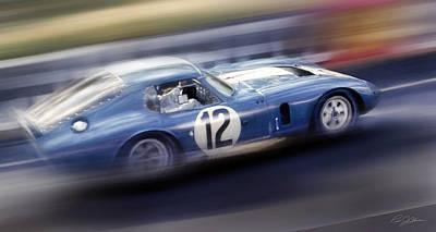 Shelby Daytona Poster by Peter Chilelli