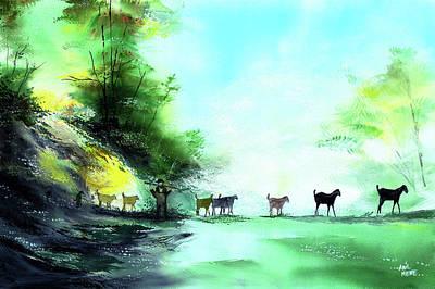 Shepherd Poster by Anil Nene