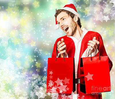 Shopping For Christmas Presents At Store Sales Poster by Jorgo Photography - Wall Art Gallery