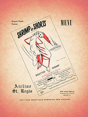 Shrimp In Shorts 1950s Poster by Mark Rogan