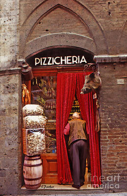 Siena Meat Shop Poster by Linda  Parker