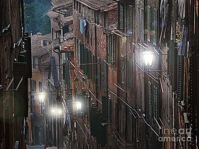 Siena Street Lamps Poster by Jim Wright