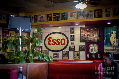 Signs At The Diner Poster by Darcy Michaelchuk