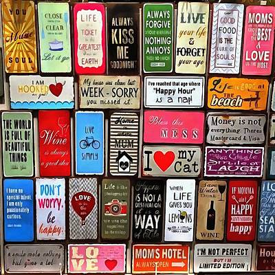 Signs Of The Time Inspirational Quote Mosaic Poster by Tracey Harrington-Simpson