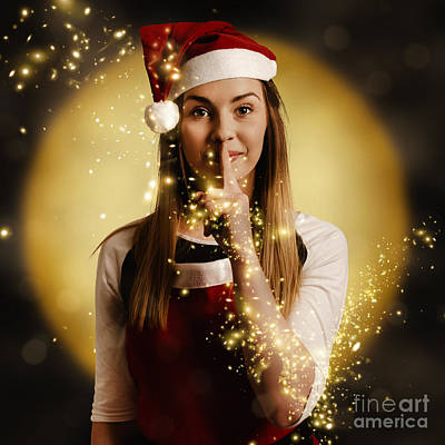 Silent Night Elf Keeping Night Watch For Santa  Poster by Jorgo Photography - Wall Art Gallery