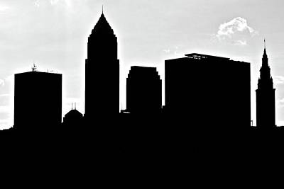 Silhouette Of The Big City Poster by Frozen in Time Fine Art Photography