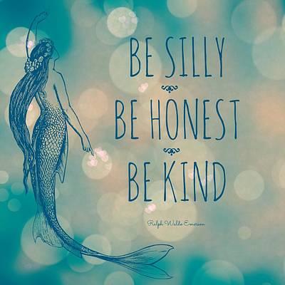 Silly Honest Kind Mermaid V5 Poster by Brandi Fitzgerald