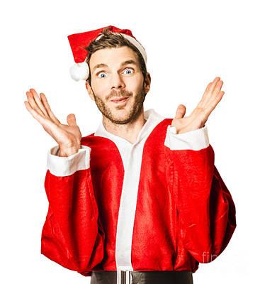 Silly Season Santa Under Crazy Stress Poster by Jorgo Photography - Wall Art Gallery