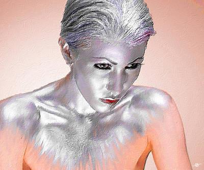 Silver Woman 1 Poster by Tony Rubino