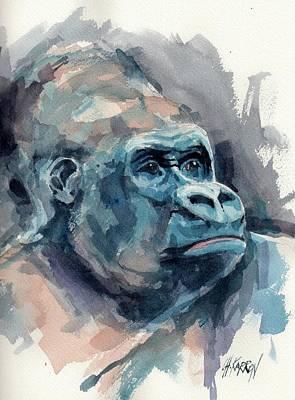 Silverback Gorilla Poster by Christine Karron