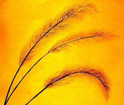 Simple Grass Poster by Ken Hughson