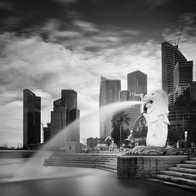 Singapore Harbour Poster by Nina Papiorek