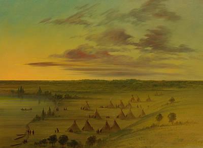 Sioux Village - Lac Du Cygne Poster by Mountain Dreams