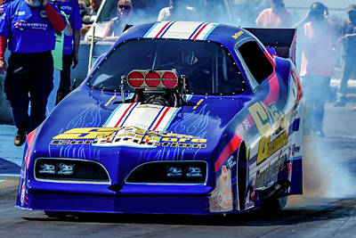Sizemore Construction Pontiac Funny Car Poster by Bill Gallagher