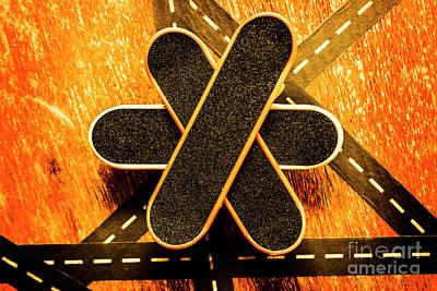 Skateboarding Star Poster by Jorgo Photography - Wall Art Gallery