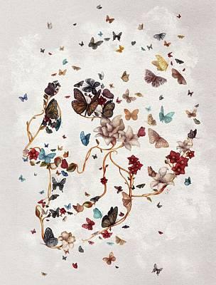 Skull Garden Poster by Francisco Valle