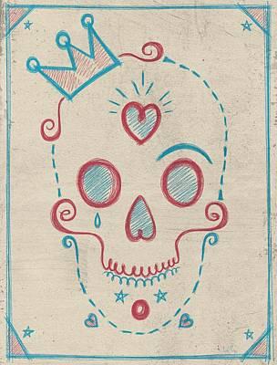 Skull Kids Poster by Francisco Valle