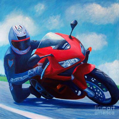 Sky Pilot - Honda Cbr600 Poster by Brian  Commerford