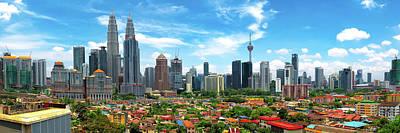 Skyline, Kuala Lumpur, Malaysia Poster by Nico Trinkhaus