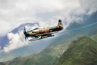 Skyraider Poster by Peter Chilelli
