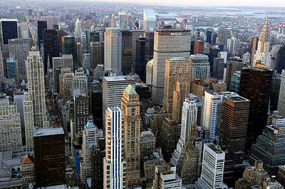 Skyscrapers, Manhattan, New York, Usa Poster by Jeremy Walker