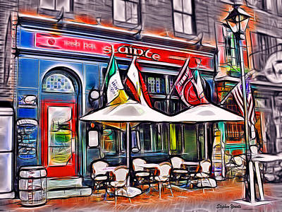 Slainte Irish Pub And Restaurant Poster by Stephen Younts